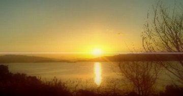 なつかしい大島の朝日