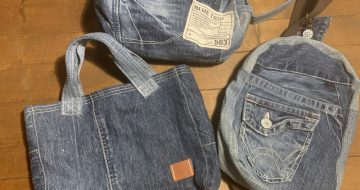 一本のジーンズから出来たもの