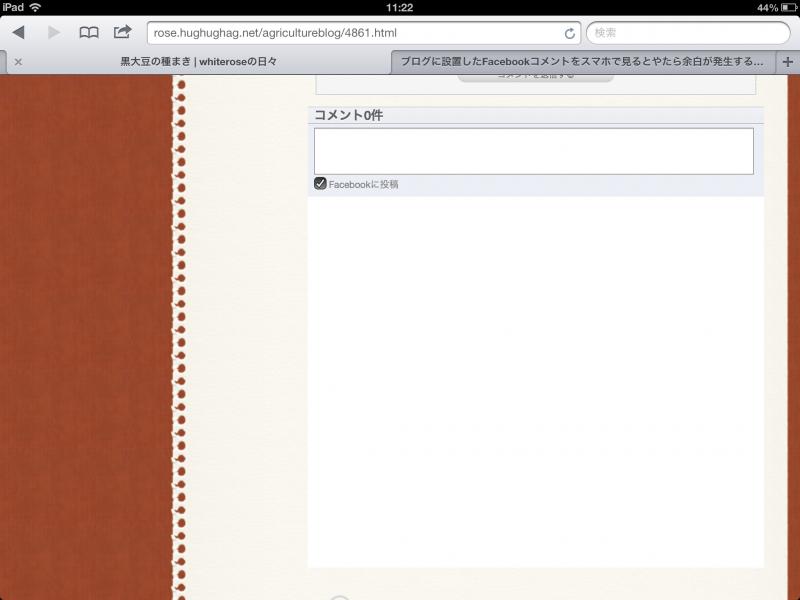 iPadで見たところ改良前