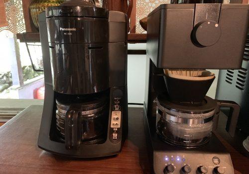 ツインバードCM-D457とナショナル沸騰浄水コーヒーメーカー