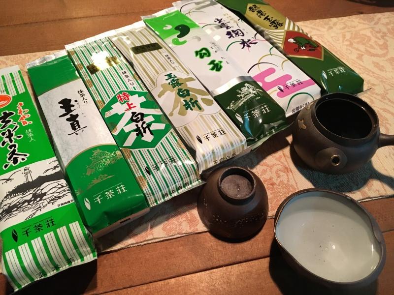 島根県松江の千茶荘のお茶、7種。