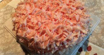 桜の季節の花びらチーズケーキ