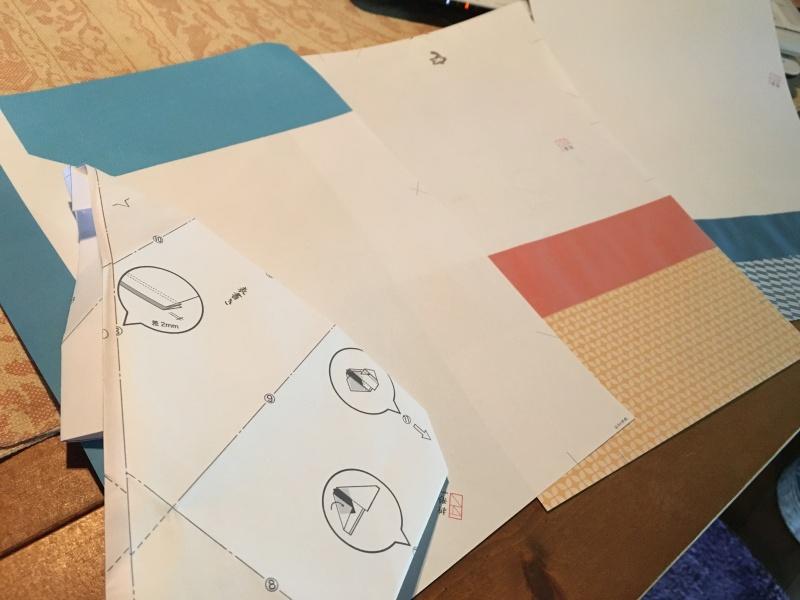 プリンターで印刷した柄紙