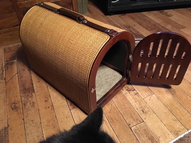 籐&木製ペットキャリー