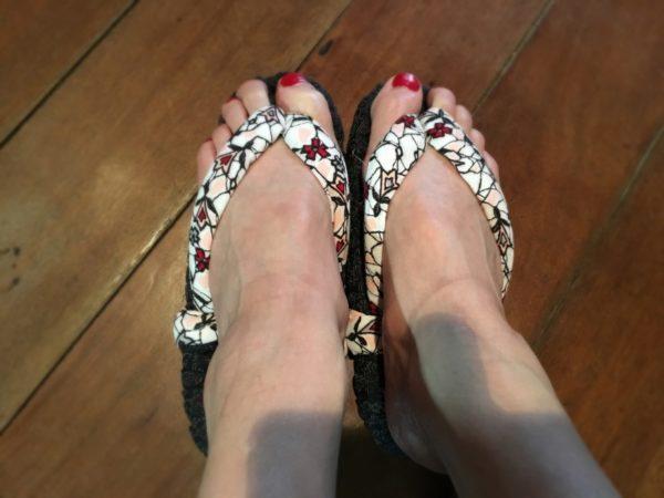 まりちゃんの布草履