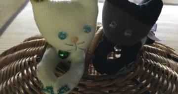 手作りの猫マスコット