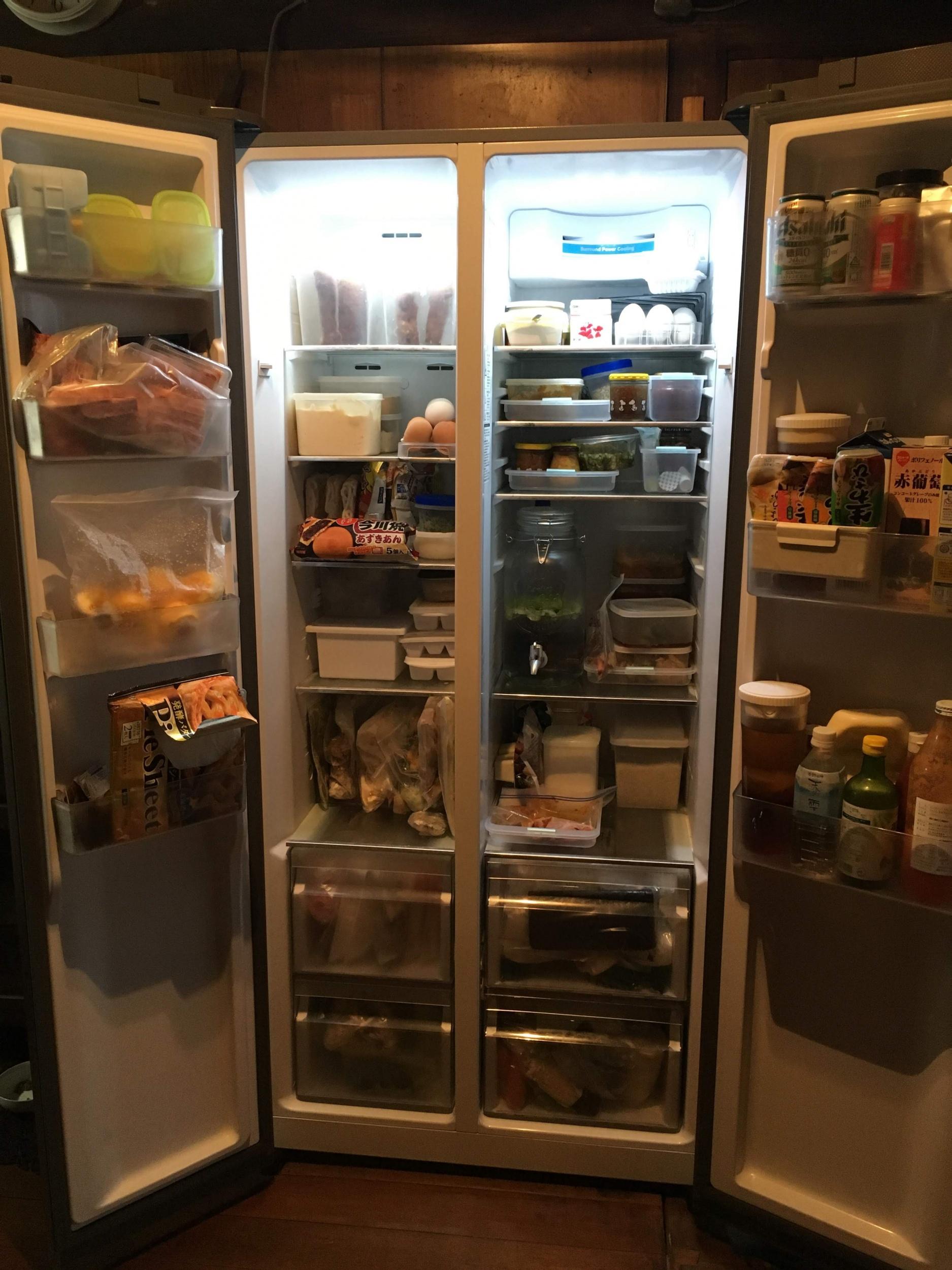パノラマオープン冷蔵庫AQUA
