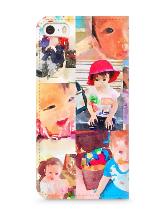 アプリ「プリスマ」で作ったiPhone手帳型ケース