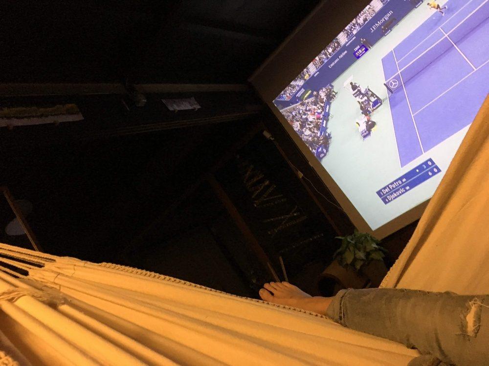 ハンモックでテニス観戦がしたかった!