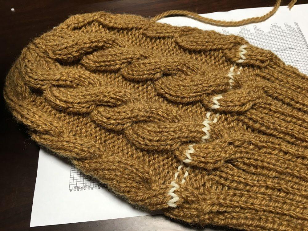 頭頂部まで編み終わり