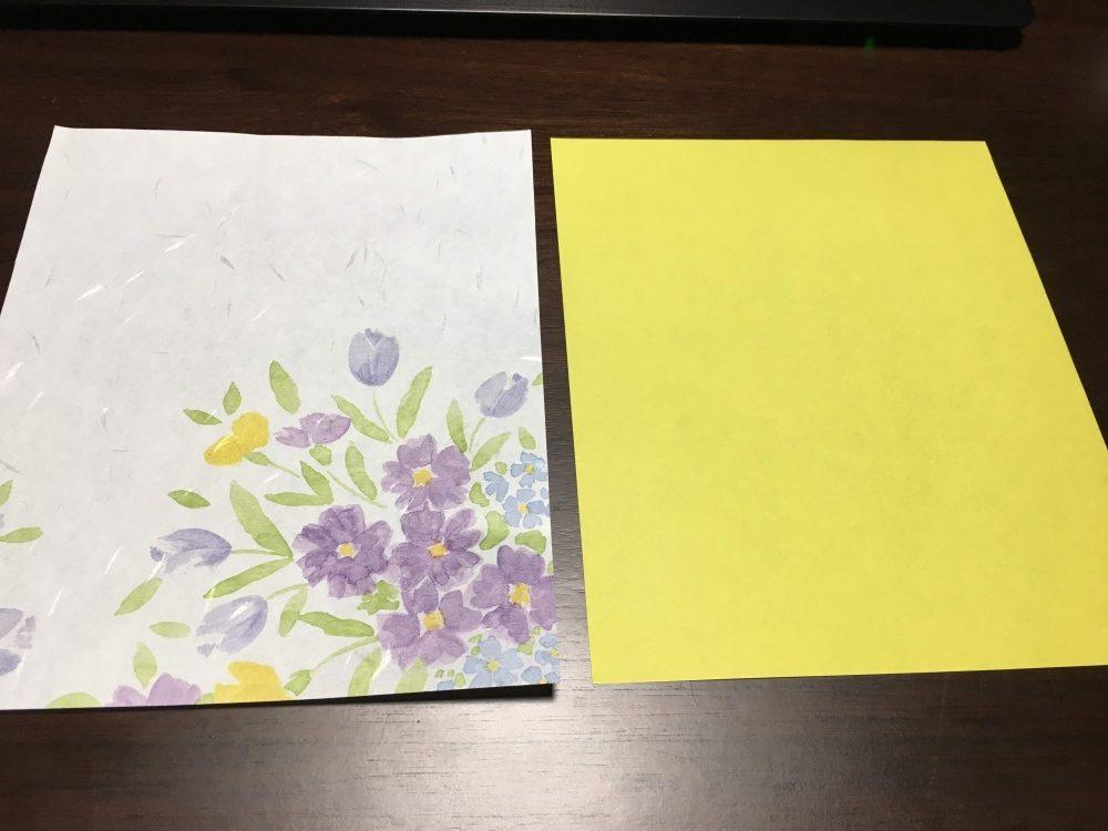 懐紙もしくは懐紙サイズの紙を使用
