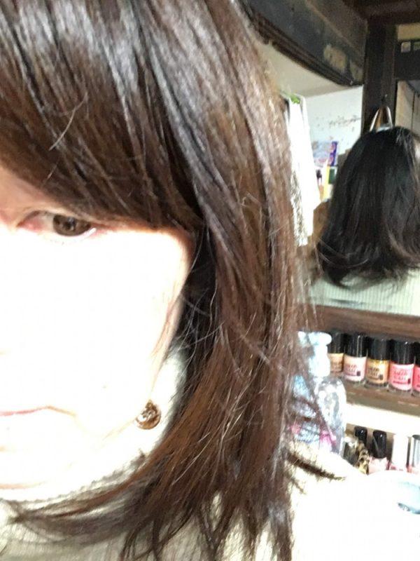 髪がここまで伸びました