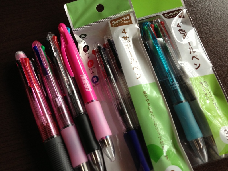 3色ボールペン大量ゲット