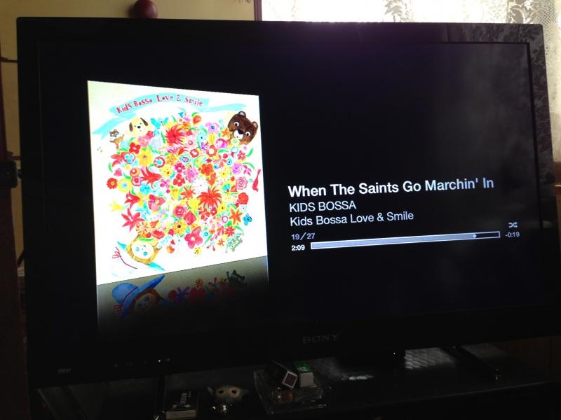 TVを音楽プレイヤーに