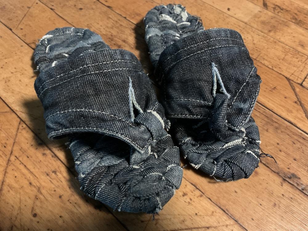 デニムの布草履