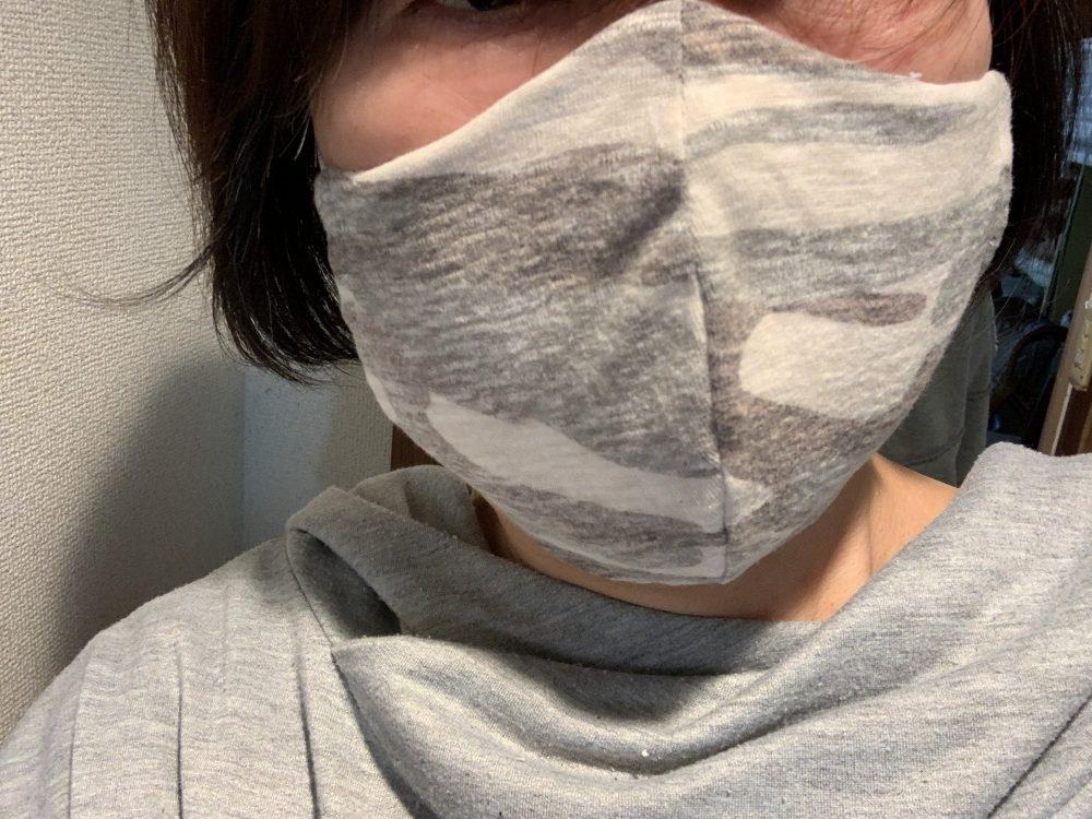 アーミー柄立体マスク