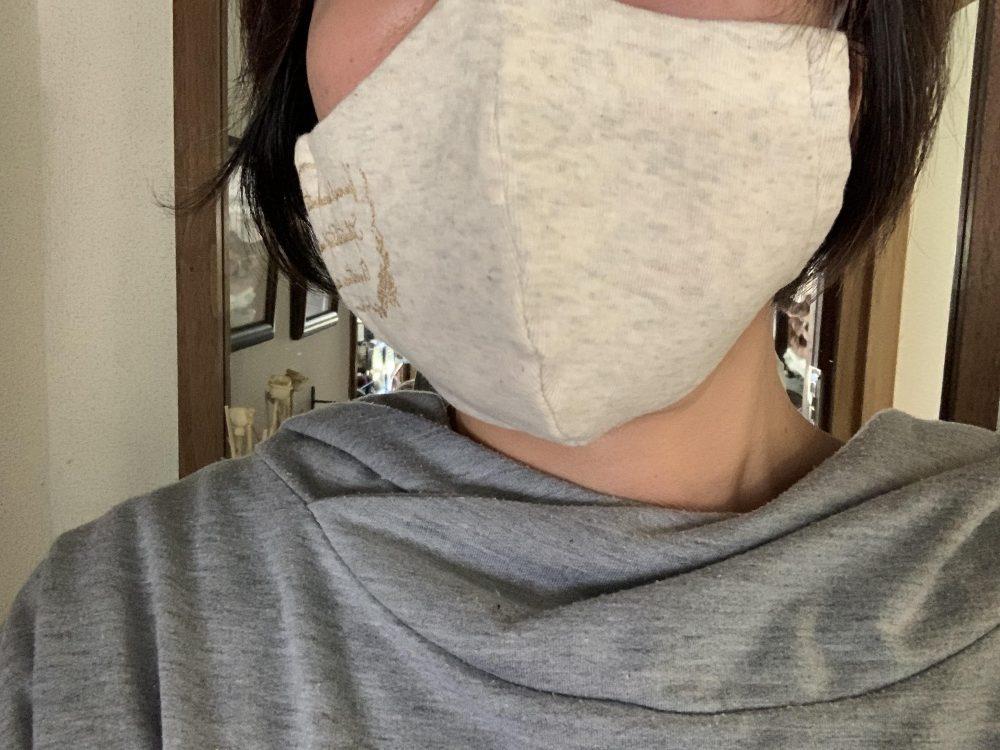 無地アクセント付き立体マスク