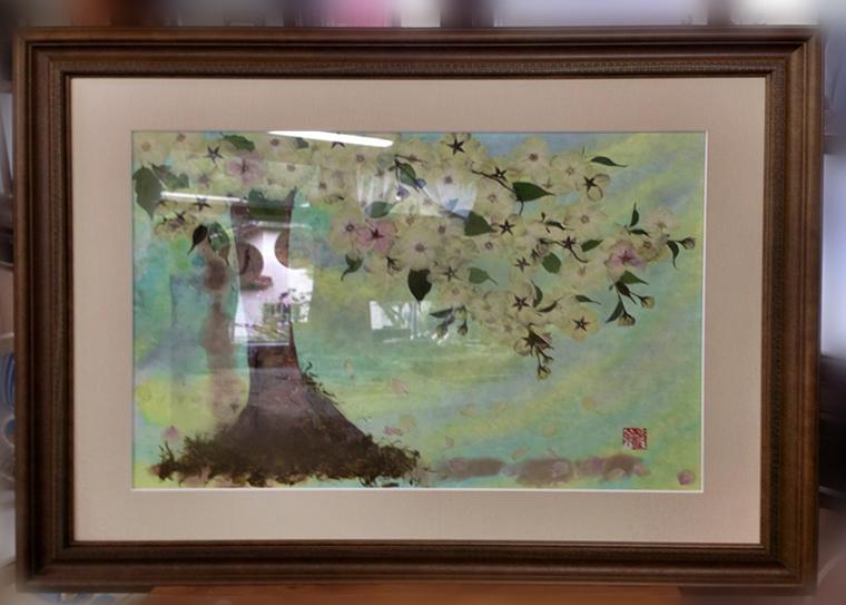 中山さんの作品「桜」