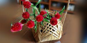 竹細工の花さし