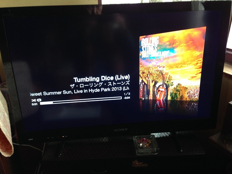 AppleTVで音楽を