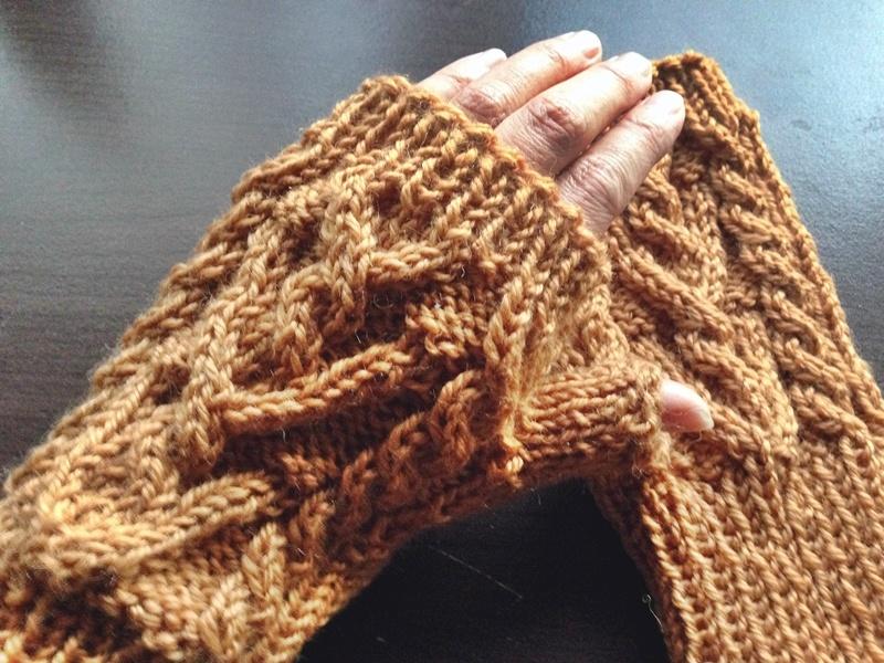 指なし手袋完成