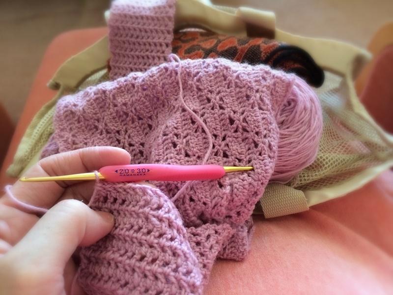 健パで編み物三昧