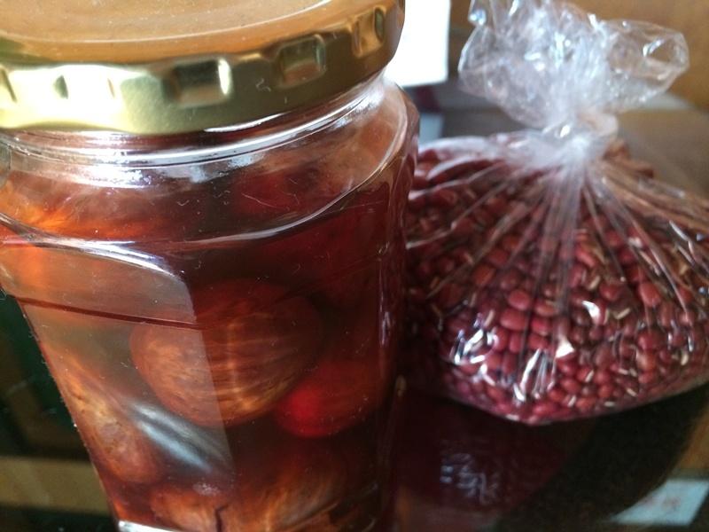 ROSE農園産、無農薬小豆と栗の渋皮煮