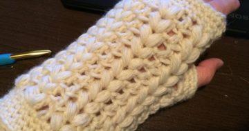 かぎ針編みスマホ手袋
