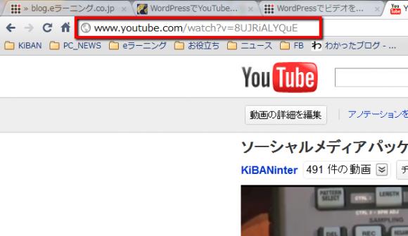 動画のURL